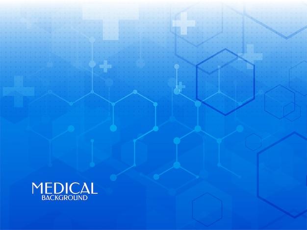 Fondo de ciencia médica y salud de color azul abstracto