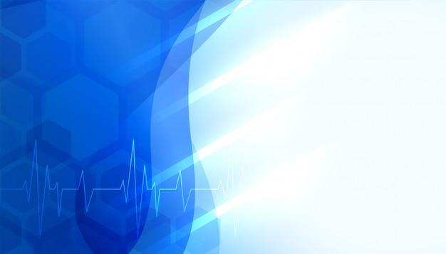 Fondo de ciencia médica y sanitaria con espacio de texto
