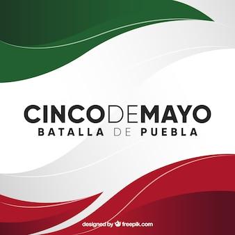 Fondo de cinco de mayo con bandera mexicana