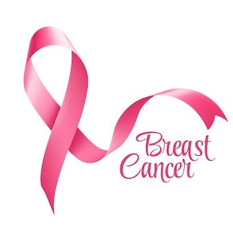 Fondo de cinta de conciencia de cáncer de mama. ilustración vectorial eps 10