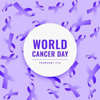 Fondo de cinta del día mundial del cáncer