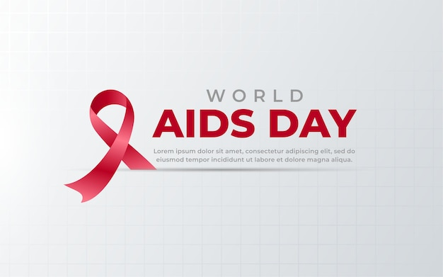 Fondo de cinta del día mundial del sida