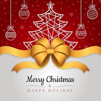 Fondo de cinta de navidad con saludo