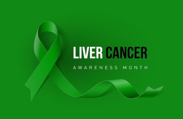 Fondo de cinta verde cáncer