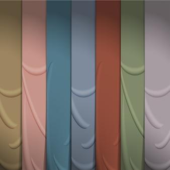 Fondo de cintas de seda