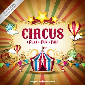 Fondo de circo en estilo vintage