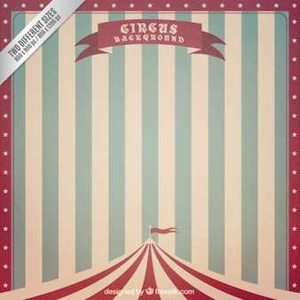 Fondo de circo de rayas vintage
