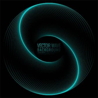 Fondo circular abstracto de onda brillante