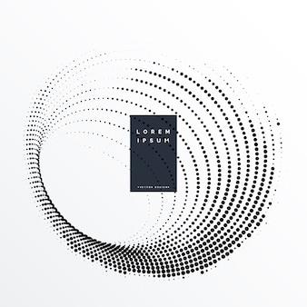 Fondo circular abstracto de puntos de medios tonos