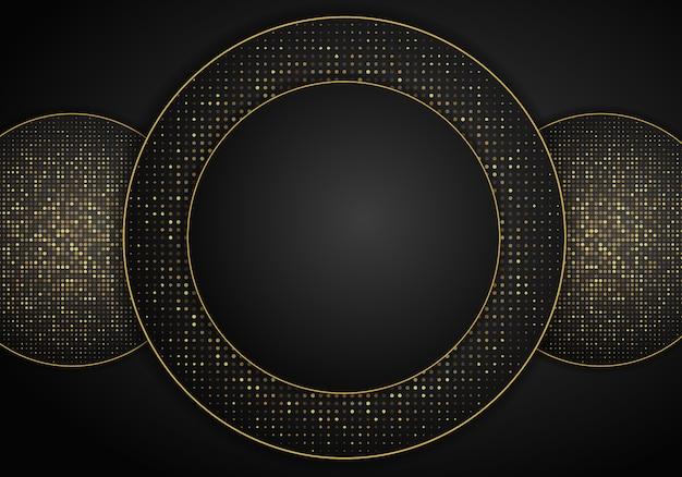 Fondo circular abstracto