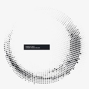Fondo circular blanco con puntos