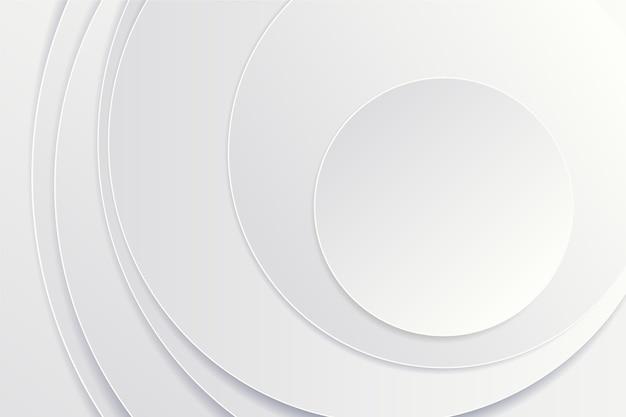 Fondo circular de estilo de papel 3d