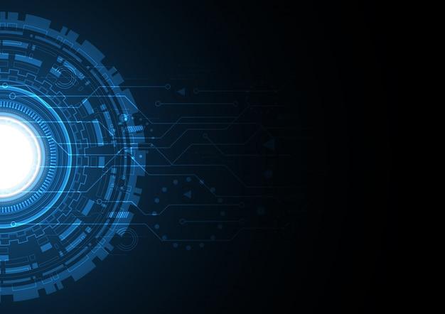 Fondo de círculo abstracto de tecnología