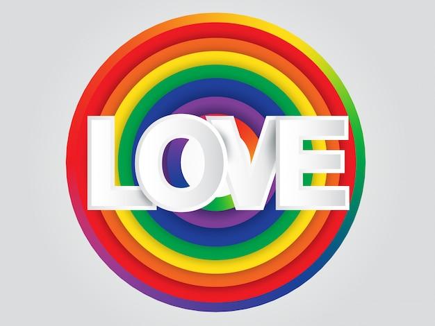 Fondo de círculo de arco iris de mundo de orgullo de tierra