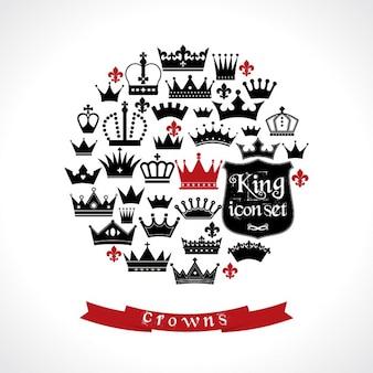 Fondo de círculo formado por coronas