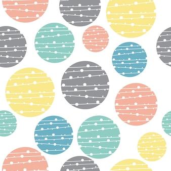 Fondo de círculo geométrico pastel inconsútil