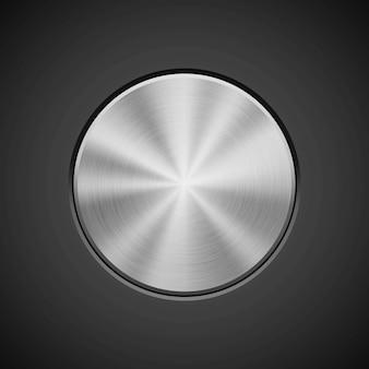 Fondo de círculo metálico