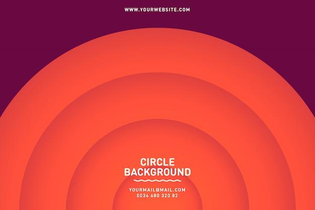 Fondo círculo moderno de negocios