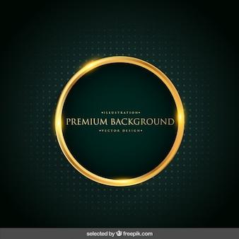 Fondo con el círculo de oro