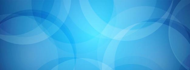 Fondo de círculo superpuesto azul abstracto