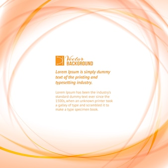 Fondo con círculos naranjas y plantilla de texto de muestra
