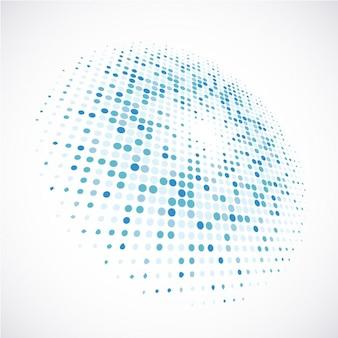 Fondo de círculos pequeños azules