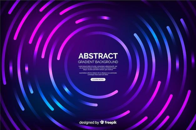 Fondo de círculos de tecnología abstracta