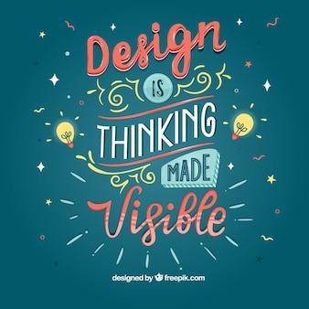 Fondo de cita de diseño gráfico con mensaje inspirador