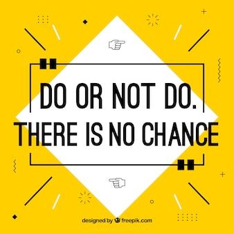 Fondo de cita de motivación en color amarillo