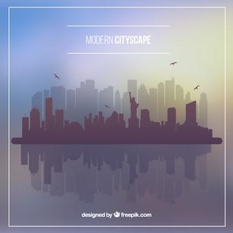 Fondo de ciudad moderna