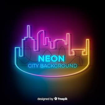 Fondo de ciudad de neón
