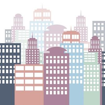 Fondo de ciudad plana