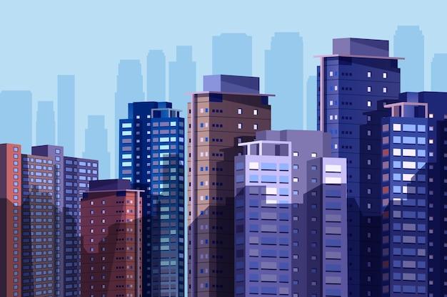 Fondo de ciudad urbana para videoconferencia.