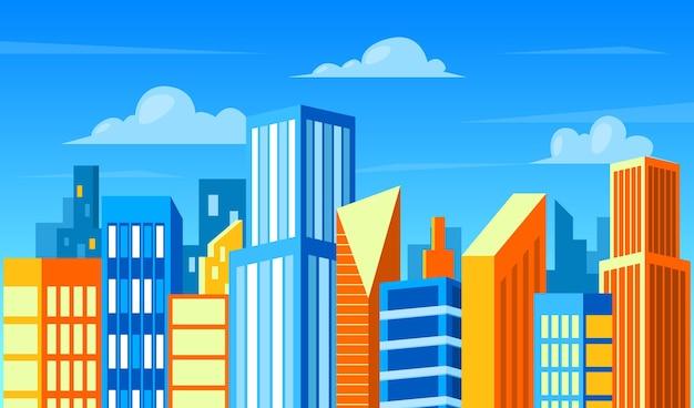 Fondo con ciudad urbana