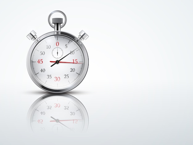 Fondo claro con cronómetros cronómetros. símbolo comercial o deportivo de la sincronización. ilustración editable.