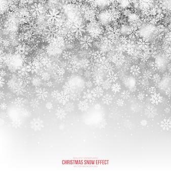 Fondo claro de efecto de nieve de navidad