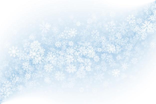 Fondo claro de invierno en blanco