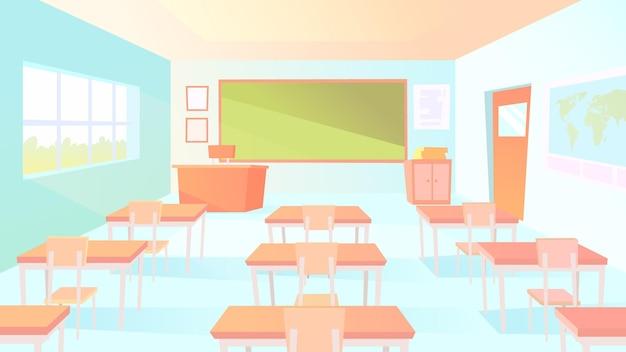 Fondo de clase de escuela vacía para videoconferencia