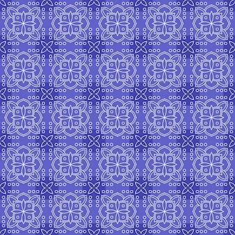 Fondo clásico batik sin patrón. papel pintado de mandala de hoja de lujo elegante motivo floral tradicional