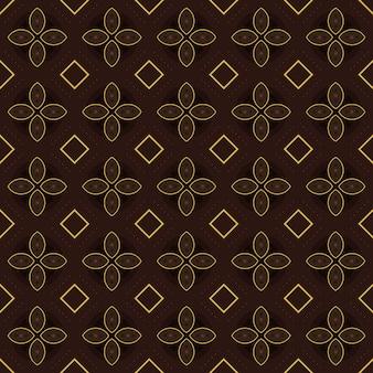 Fondo clásico batik sin patrón. papel tapiz de mandala geométrico de lujo. elegante motivo floral tradicional en color marrón.
