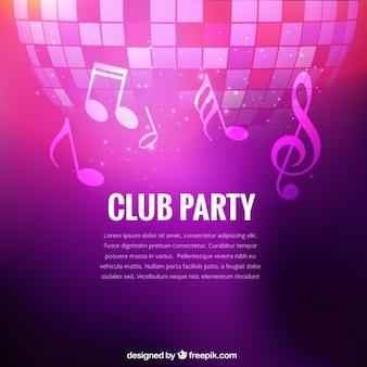 Fondo de club de fiesta