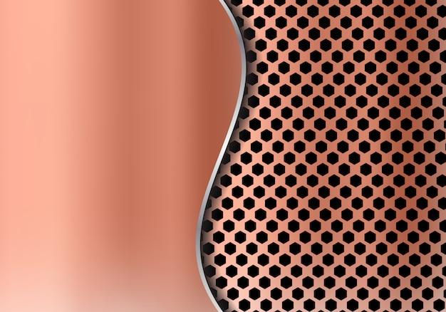 Fondo de cobre abstracto del metal