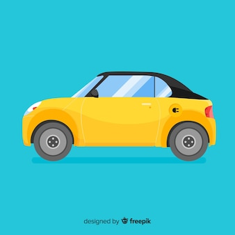 Fondo coche eléctrico
