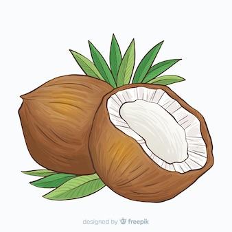 Fondo coco dibujado a mano