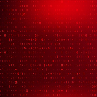 Fondo de código binario digital