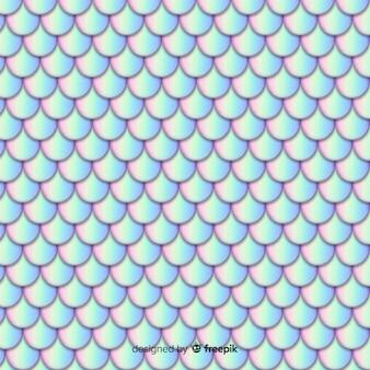 Fondo cola de sirena holográfica