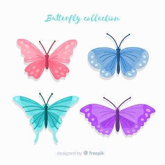 Fondo colección mariposas coloridas