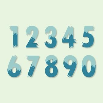 Fondo con colección de números