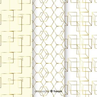 Fondo de colección de patrones de formas de lujo