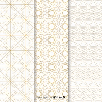 Fondo con colección de patrones de lujo